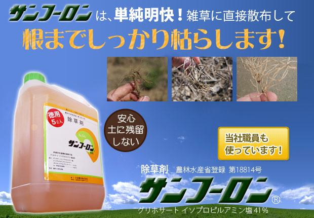 【サンフーロンの効果】果樹園、田畑でも使用可能な除草剤を使ってみた